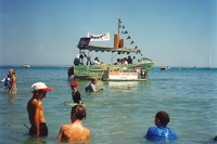 A boat at the Darwin Beer Can Regatta