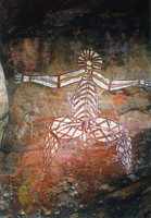 Rock art in the famous x-ray style at Nourlangie