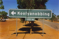 A sign saying 'Koolyanobbing'
