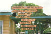 Distance signs at Eucla