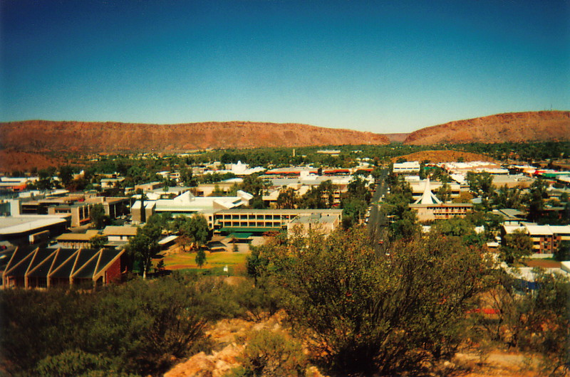 A view over Alice Springs