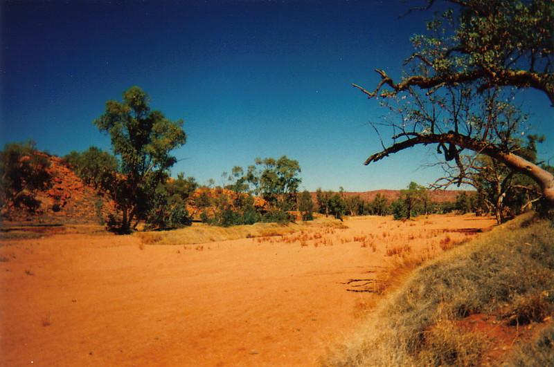 The dry bed of the Todd River