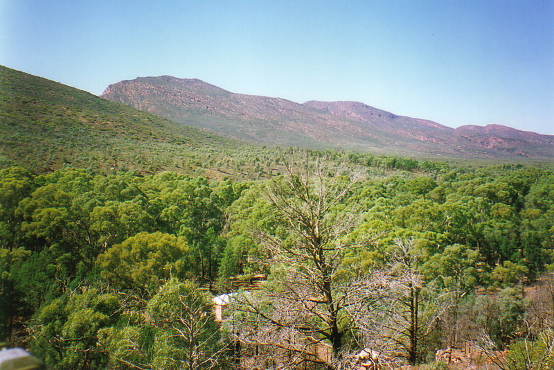 The sloping sides of Wilpena Pound