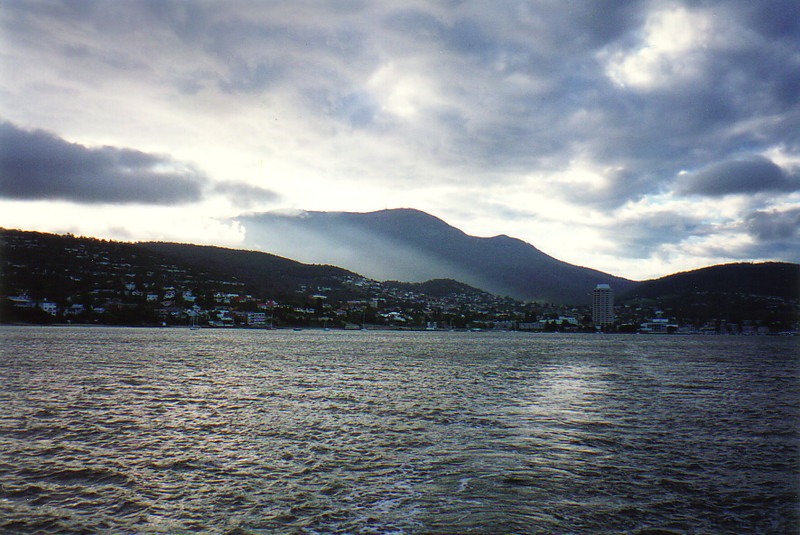 A view of Hobart from the bay