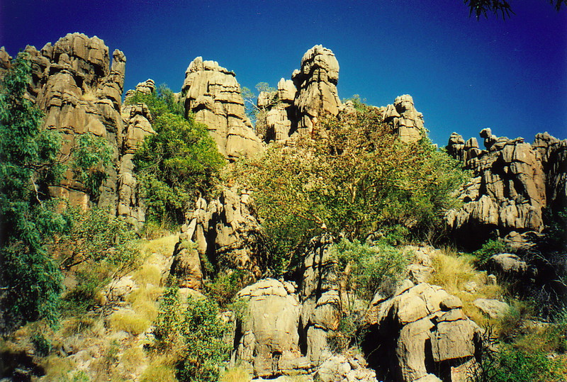Rock formations in Mirima National Park