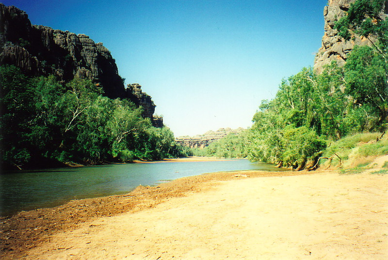 The Lennard River, Windjana Gorge