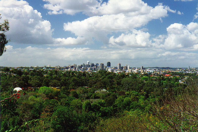 Brisbane from the botanic gardens at Mt Coot-tha