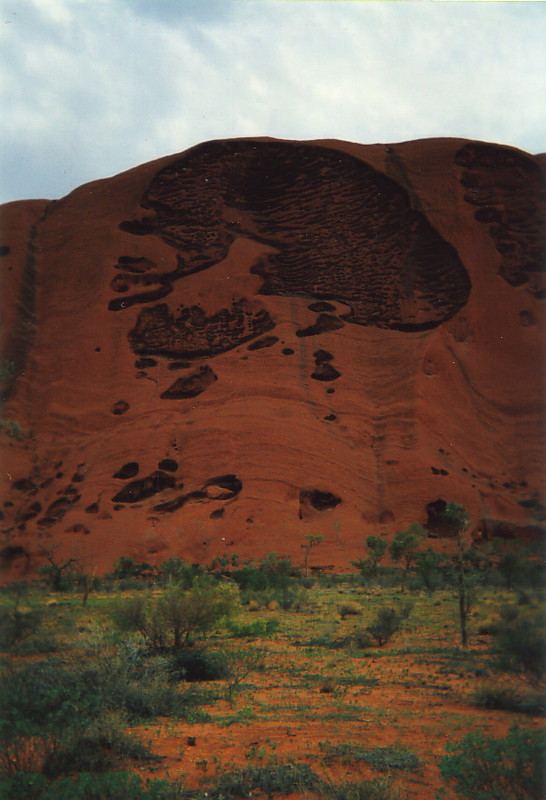 Textures on the side of Uluru