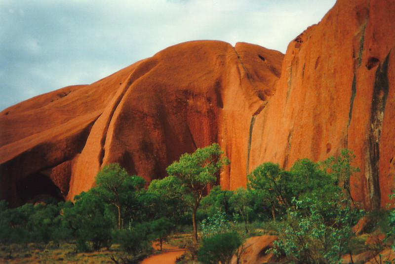 Undulating shapes of Uluru