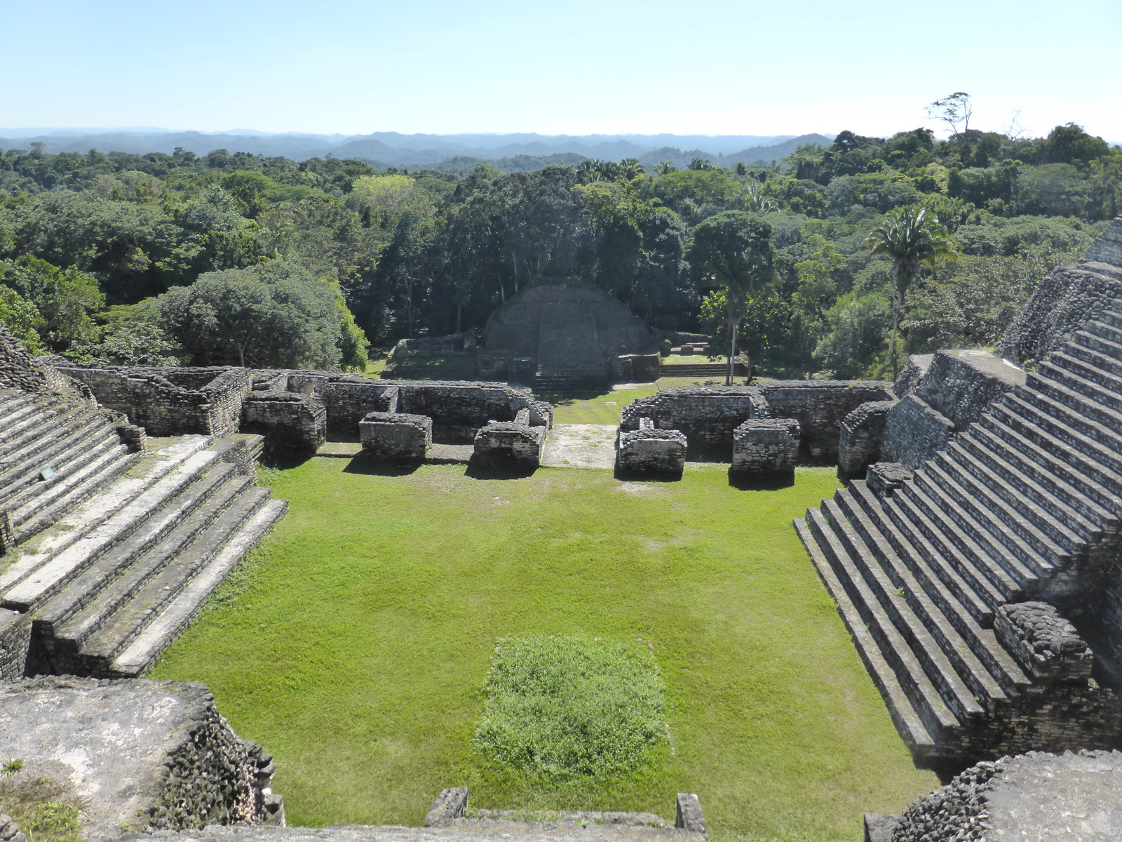 The view south from the top of the main pyramid