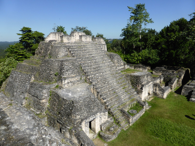 The plaza on the top of the main pyramid