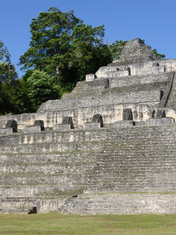 Caana, the main pyramid at Caracol, is 43m high