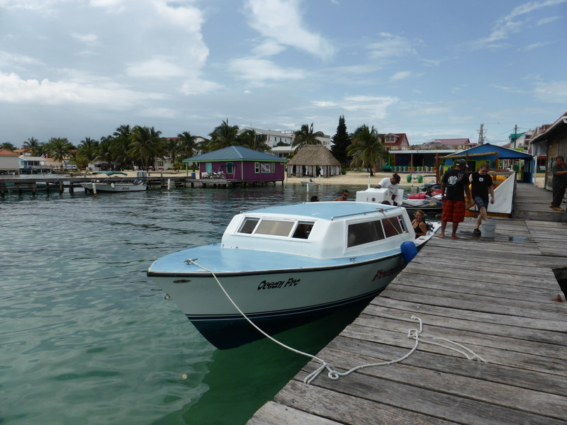 Our dive boat moored in San Pedro between dives