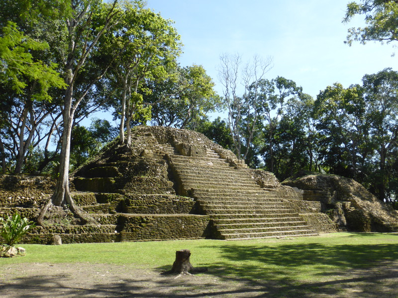 The main pyramid at Cahal Pech
