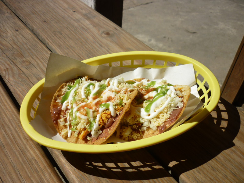 Tostadas from Mickey's Snack Shop on Burns Avenue