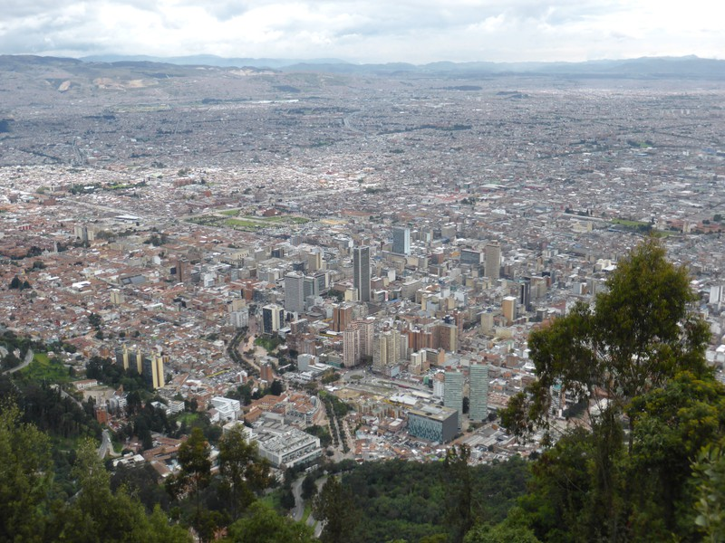 The view over central Bogotá from Cerro de Monserrate