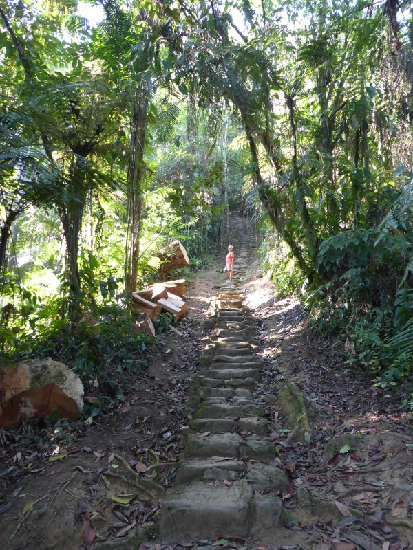 Climbing the 1200-step staircase to the Lost City