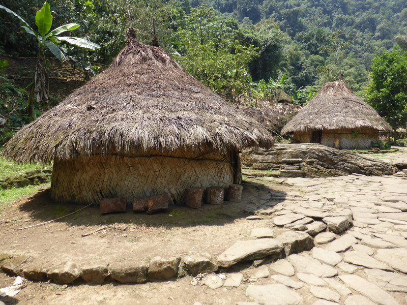 In its heyday, the circular platforms in the Lost City would have been covered in huts like these