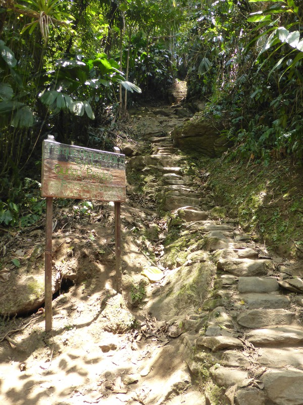 The start of the 1200-step stone staircase to the Lost City