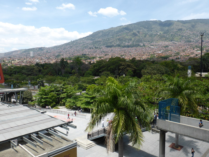 Medellín is in a steep-sided valley