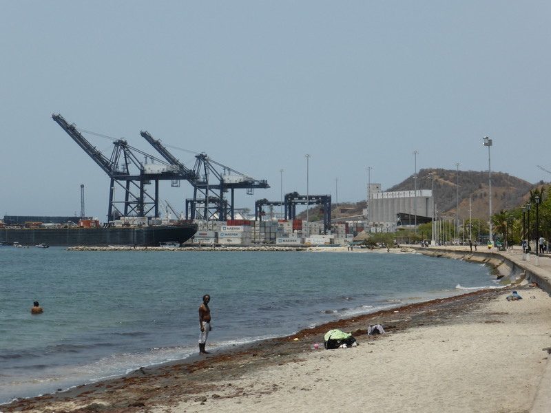 The port in Santa Marta