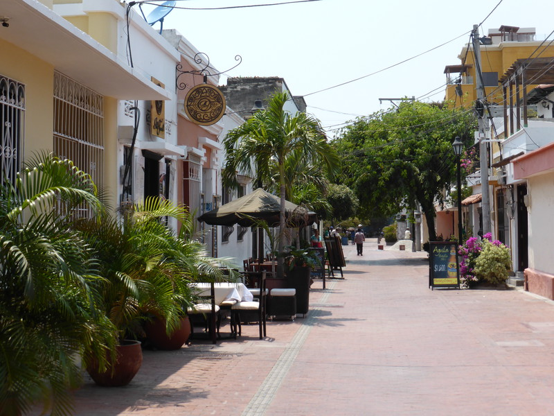 One of southern Santa Marta's pleasant restaurant-lined streets