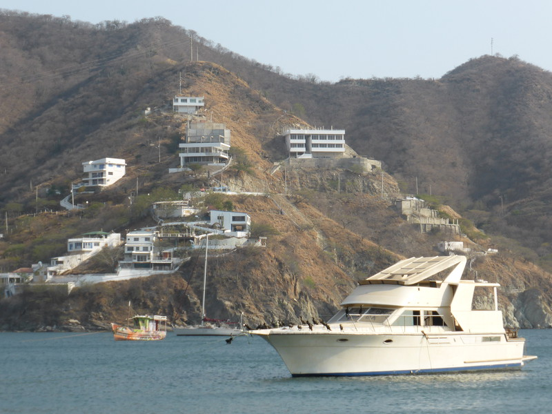 Taganga's hills are filling up with new developments