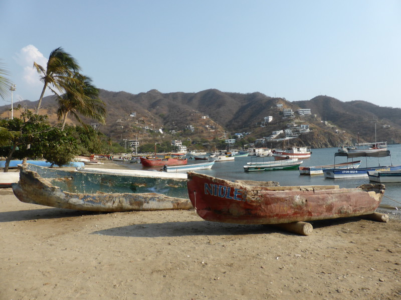 The fishing beach in Taganga