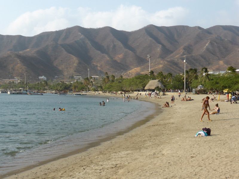 The pleasant beach at Taganga