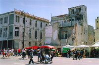 A crumbling building on the Malecón, Havana