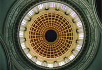 The view up into the dome of the Capitolio