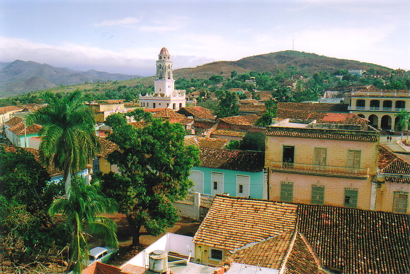 A view of Trinidad with the Sierra del Escambray in the background