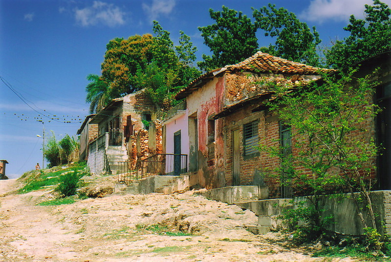 A house in the back streets of Trinidad