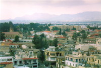 Nicosia from above, looking towards the Ledra Palace Hotel