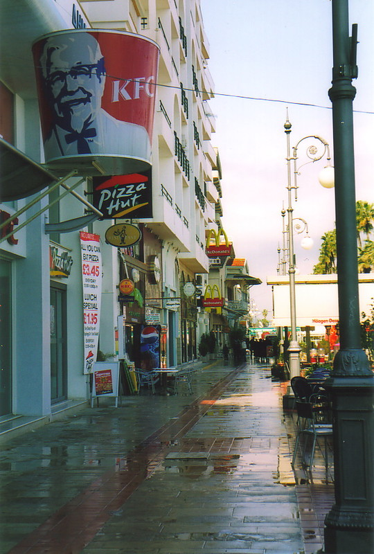 Junk food outlets on Larnaka seafront