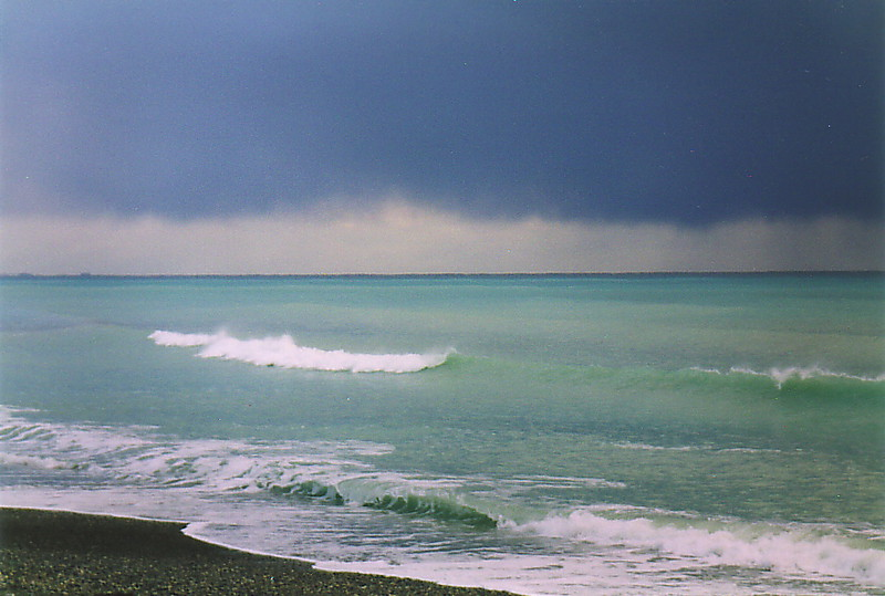 A storm on Pissouri beach