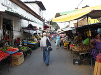 The streets round the market in Santa Ana are full of stalls