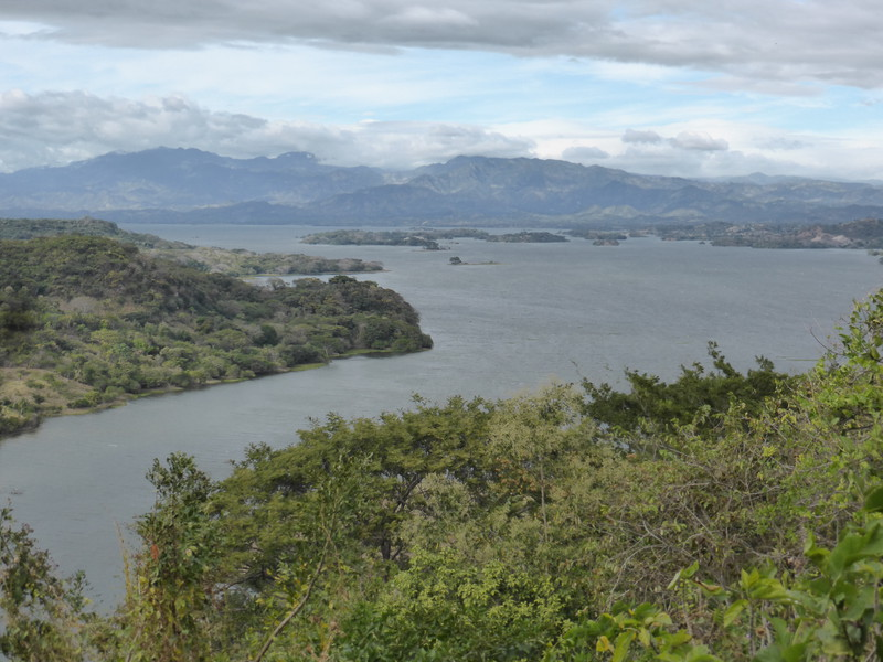 The view of Cerron Grande Reservoir from Suchitoto