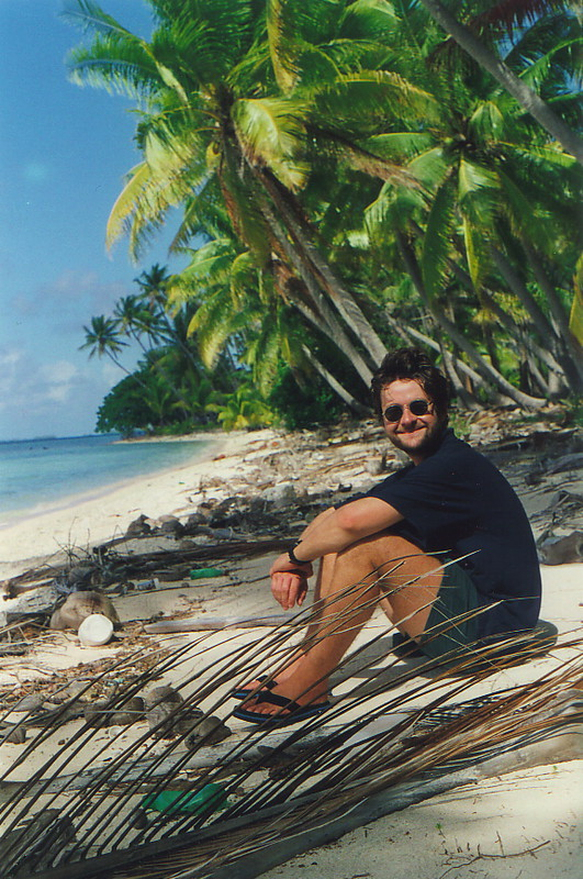 Mark relaxing in paradise