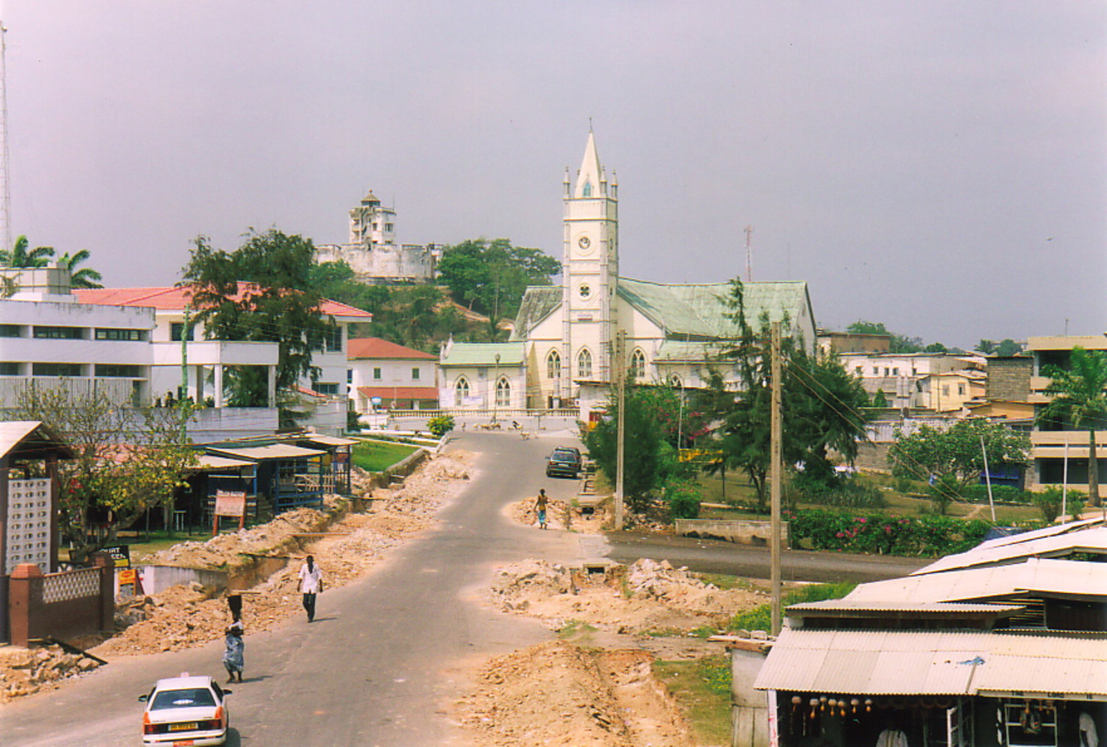 Fort William and Chapel Square from Cape Coast Castle