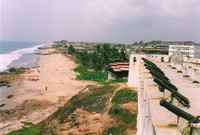 The view west from Cape Coast Castle