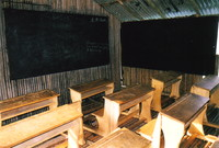 Inside the school, Nzulezo