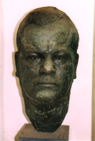 A bust of Jimmy Moxon