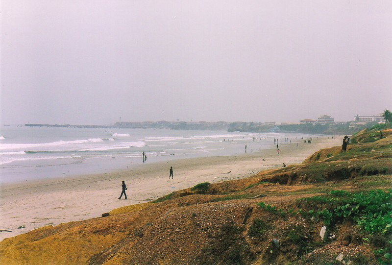 The beach at Accra