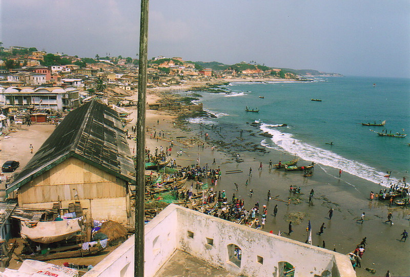 The view east from Cape Coast Castle