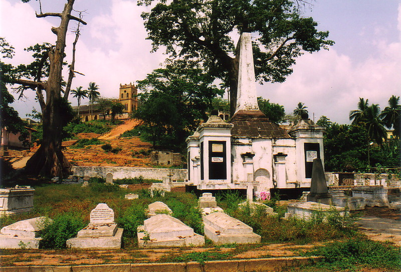 The Dutch cemetery in Elmina
