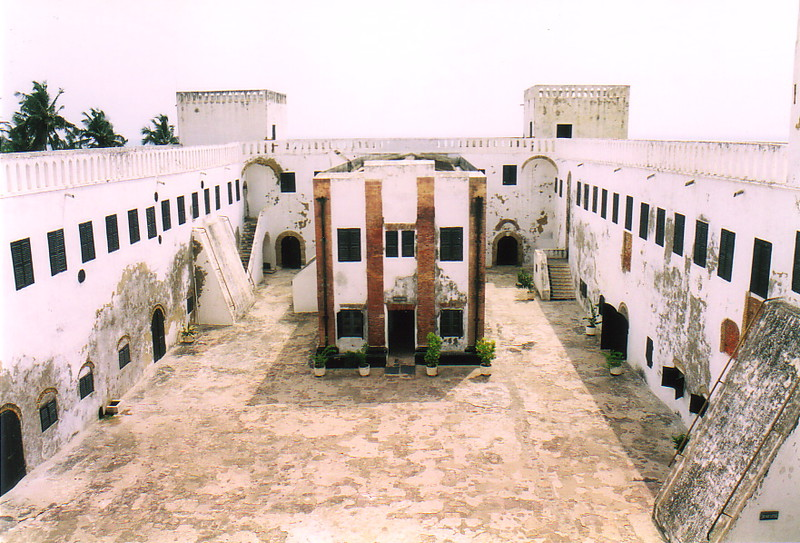 The courtyard of St George's Castle, Elmina
