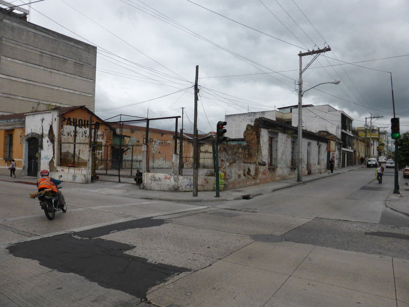 Off the main drag, Guatemala City's buildings are a bit rougher round the edges