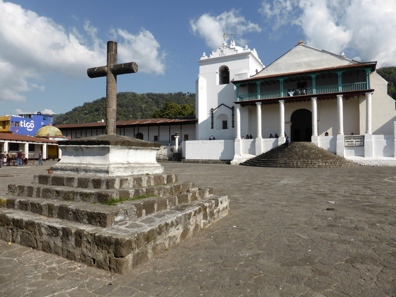 The church in Santiago Atitlán