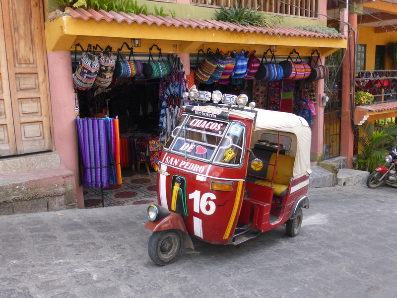 One of San Pedro's tuk-tuks